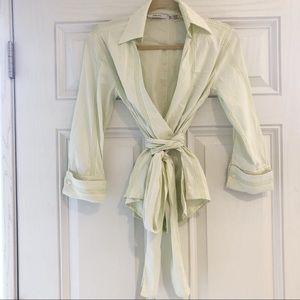 ZARA Tie Wrap Blouse Size 2